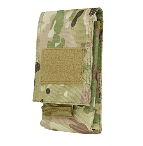 LefRight Camo Tactical Molle Vertical Waist Belt Large Pouch Bag Holster Cover Pull Tab Compatible 5.5