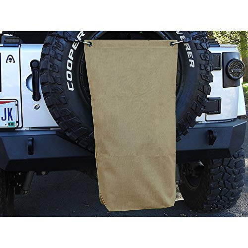 Trash Trail Bag for the SUV, Foldable Trash Bag/Storage Bag for Camping, Beach, Mudding, Spare Tire Trash & Utility Bag LJD04 (khaki)