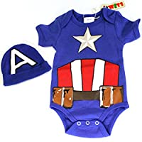 "Knitwits ""Captain Adorable"" Onesie and Hat Bundle Outfit"