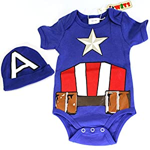 """Knitwits """"Captain Adorable"""" Onesie and Hat Bundle Outfit"""