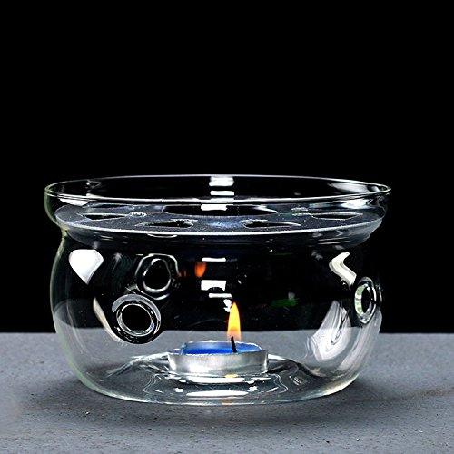 Cosy-Yc Glass Teapot Warmer, Borosilicate Heat Resistant Glass Tea Light Warmer, Design for Glass Teapot (teapot - Porcelain Warmer