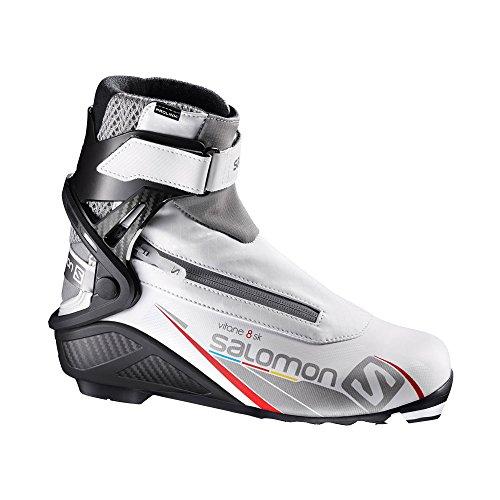 Silver Womens Ski Boots (Salomon Prolink Vitane 8 Skate Ski Boot - Women's White/Black/Silver, US 7.5/UK 6.0)