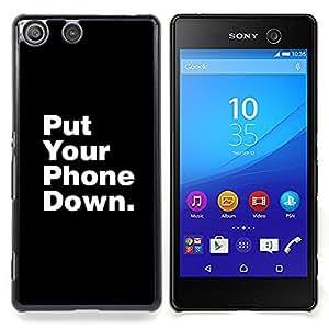 - Put Phone Down Life Focus Quote - - Monedero pared Design Premium cuero del tir???¡¯???€????€????????????