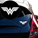 """Wonder Woman Decal Sticker for Car Window, Laptop, Motorcycle, Walls, Mirror and More. # 550 (4"""" x 9.2"""", White)"""