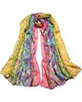 niceeshop(TM) Gradient Floral Printing Retro Silk Chiffon Scarves