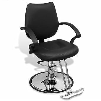 luckyfu silla de barbero Profesional de piel Artificial nera ...