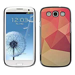 Paccase / SLIM PC / Aliminium Casa Carcasa Funda Case Cover - Design Polgon Orange - Samsung Galaxy S3 I9300