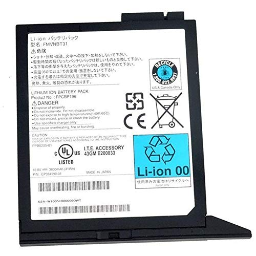 (BOWEIRUI Replacement Laptop Battery for Fujitsu FMVNBT31 (10.8V 41Wh 3800mAh) Lifebook E780 E8420 E751 E752 S751 S752 S710 S7220 T731 T730 TH700 T4410 T4310 Series FPCBP196 CP384590-01 FPCBP196AP)
