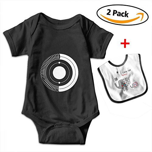 Bennett Cute Portal 2 Game Short-Sleeve Baby Climbing Clothes Jumpsuits With Bib ()