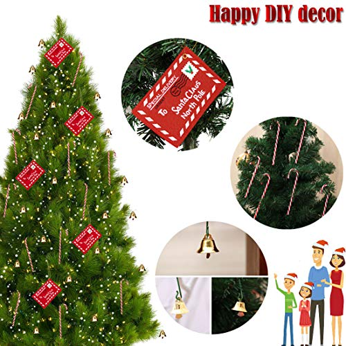2x Christmas Xmas Santa Letter Mail Envelope Greeting Cards Tree Hanging Decor