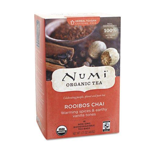 Numi Organic Teas and Teasans, 1.71 oz, Ruby Chai, 18/Box
