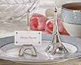 Evening in Paris Eiffel Tower Silver-Finish Place Card Holder set of 4 (Set of 18)