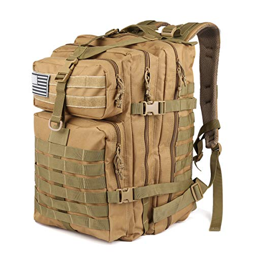- Roaring Fire EDC Tactical Backpack Water Resistant. Molle Attachment Points and Rugged Construction for The Outdoors, Hiking, Bug Out Bag, Emergency Backpack, Trekking, Hunting or Tactical uses