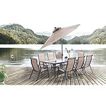 7pc Alta Cast Aluminum Outdoor Dining Table Set