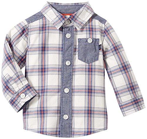 OshKosh B'Gosh Baby Boys' Plaid Shirt 11154110, Mystic Navy, 12 Months