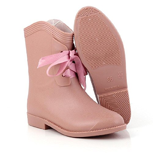 Alger Casual fashion ladies rain boots, pink, 38