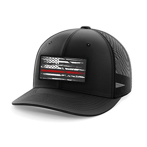 Thin Red Line Flag Flexfit Hat (L/XL)