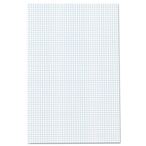 Ampad Quadrille Double Sided Pad, 11 x 17, White, 4x4 Quad Rule, 50 Sheets, 1 Pad (22-037) 2 Side Quadrille Pads