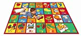 Kids Rug ABC FRUIT Area Rug 39'' X 58'' for Playroom & Nursery