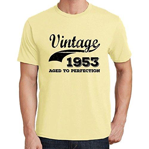 Vintage Year Aged to perfection 1953, regalo cumpleaños hombre, camisetas hombre cumpleaños, vendimia añejado a la perfección camiseta hombre, camiseta regalo, regalo hombre amarilla