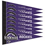 Colorado Rockies Mini Pennants - 8 Piece Set
