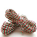 10 Metres of Candy Cane - Christmas - Red, White & Green Craft - Bakers - Butchers - String - Twine by Butchers-Sundries