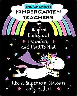 Amazon.com: Kindergarten Teacher Appreciation Gift Lined ...