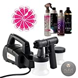 Aura Compact Elite Spray Tan Machine with Norvell Venetian, ONE, and Cosmo Tanning Solutions Sunless Pro Pack Bundle