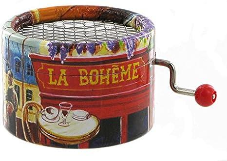 Caja de música / caja musical de manivela de cartón adornado - La ...