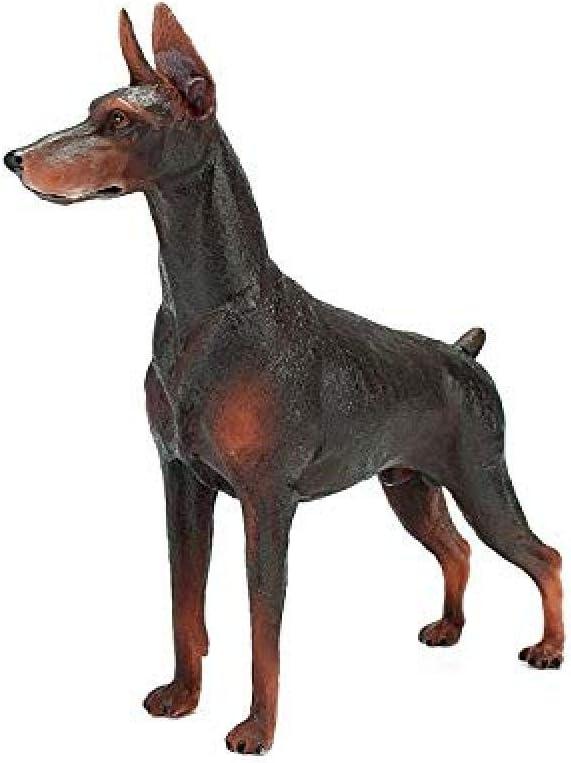 Escultura Animal Artificial Escultura de Animales de jardín Cabaña Decorada Modelo de Juguete Animal pequeños AdornosRegalo de niños y niñas Resina niños s Bulldog Bulldog Modelo