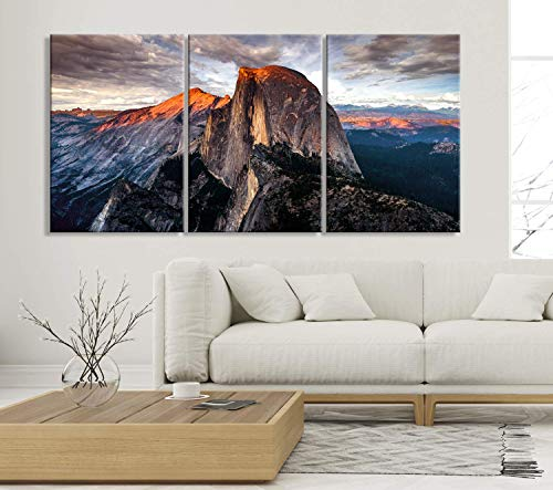 - Half Dome Wall Art, Yosemite National Park Art Print, Extra Large Wall Art Canvas Print for Home and Living Room Decoration | Office Wall Art | Ready to Hang | 3 Extra Size