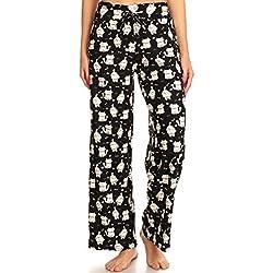 Leggings Depot - Pantalones de Pijama para Mujer, cómodos, Informales, sólidos e Impresos, Gatos Furball, L