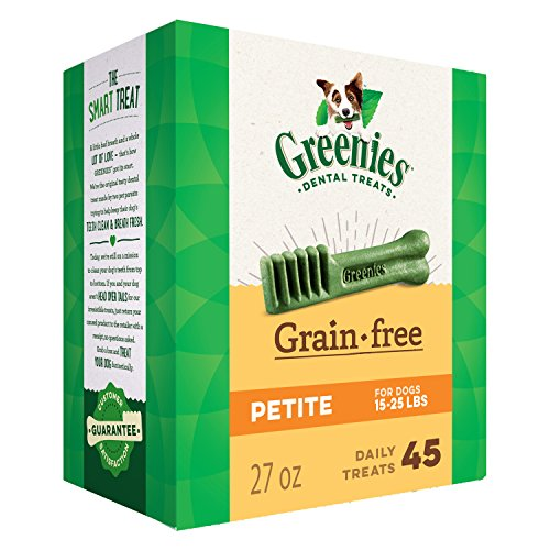 GREENIES Grain Free Petite Natural Dental Dog Treats, 27 oz. Pack (45 Treats) (Best Diet Desserts Ever)