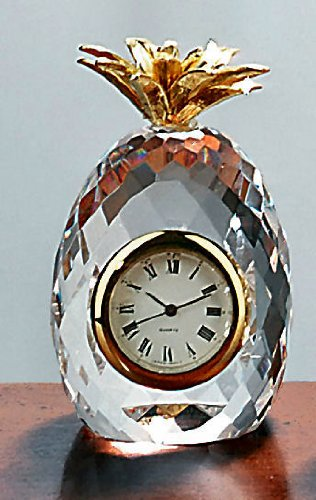 Badash Crystal Mini Pineapple Clock SU325 ()
