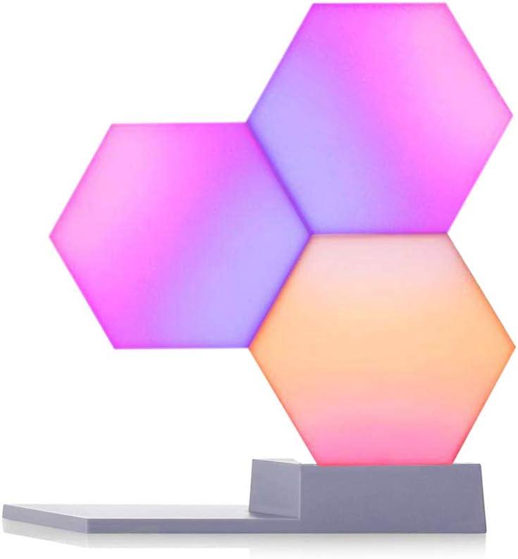 Cololight - Paneles LED (3 unidades, luz de estado de ánimo cambiante con 16 millones de colores RGB), funciona con Alexa y Google Assistant, policarbonato, color blanco