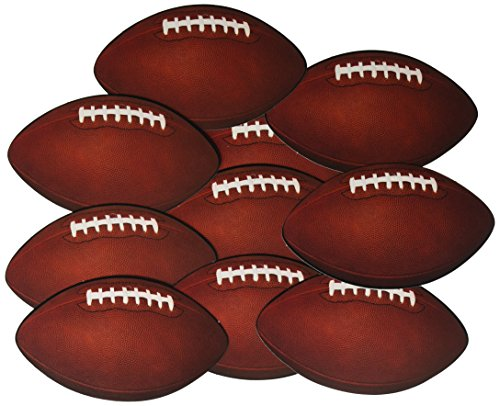 Beistle 57079 10-Pack Miniature Football Cutouts for Parties, 4-1/2-Inch]()