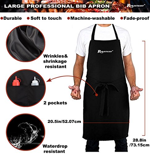 ROMANTICIST 21pc Stainless Steel BBQ Grill Tool Set with Grill Apron for Men with Gift Box Package - Complete Outdoor Barbecue Grilling Accessories Kit in Aluminum Storage Case