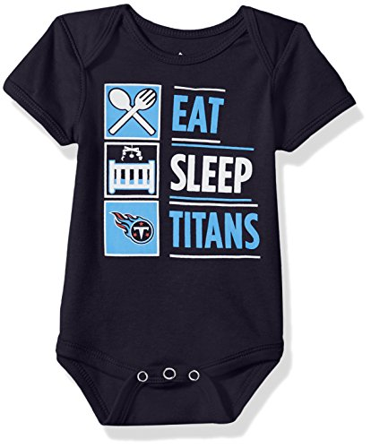 Outerstuff NFL Infant All I Do Short Sleeve Onesie-Navy-24 Months, Tennessee Titans