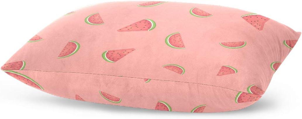 BEUSS Pink Watermelon Fruit Pillowcase