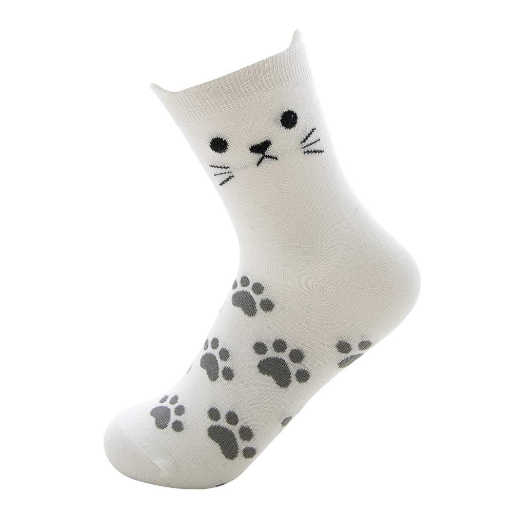 Ougenni 5 Paia di Calze da Gatto Divertenti Calze da Donna in Cotone Comfort Animal Painting Calzini Adorabili Il Miglior Regalo per le Signore