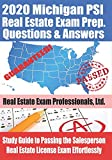 2020 Michigan PSI Real Estate Exam Prep Questions