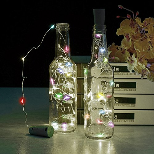 6Pcs Cork Lights for Wine Bottles, TechKen Bottle Lights 15 LED Color Change Copper Wire Lights String Starry LED Lights for Bottle DIY, Party, Decor, Christmas, Halloween, Wedding (Halloween Diy Party Ideas)