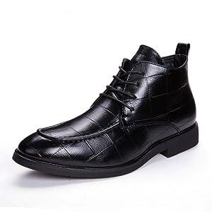 [YYBO] メンズ ブーツ チャッカーブーツ メンズブーツ ショートブーツ ローカット ワークブーツ レースアップ フォーマル 革靴 ビジネス 紳士靴 チェルシーブーツ 靴 メンズシューズ 26.5cm お兄系 ブラック 革靴 男靴 大きいサイズ 小さいサイズ