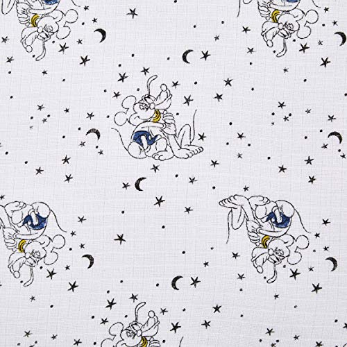 aden + anais Sleeping Bag, 100% Cotton Muslin, Wearable Baby Swaddle Blanket, Large, 12-18 Months, Mickey Stargazer