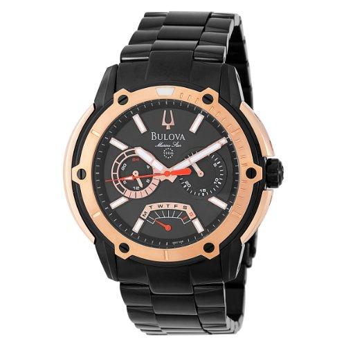 Bulova Men's 98C106 Marine Star Black Dial Bracelet Watch ()
