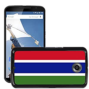 GoGoMobile Slim Protector Hard Shell Cover Case // V00001066 gambia National Country Flag // LG Google Nexus 6