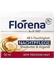 Florena Nachtverzorging met veganistische sheaboter en arganolie, per stuk verpakt, (1 x 50 ml)