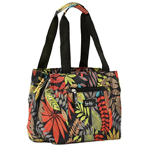 Nicole Miller of New York Insulated Lunch Cooler- Galapagos/ Black 11 Lunch Tote (Box Bag Tote)