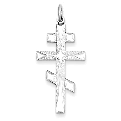 Amazon sterling silver eastern orthodox cross pendant 142 in sterling silver eastern orthodox cross pendant 142 in x 071 in aloadofball Images