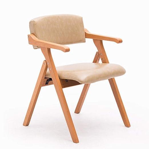 LJFYXZ Silla de Comedor de Madera Maciza, con sillones Silla ...